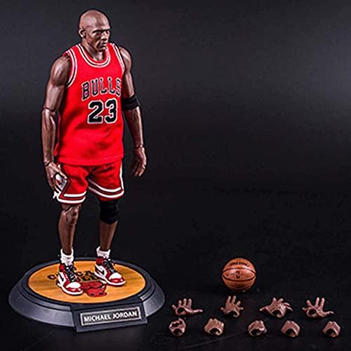 UYKOKH 1/6 NBA Basketball Star 23 Michael Jordan Motion Digital Toy Statue Digital Memorial Colección Ornamento Decorativo Cumpleaños