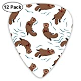 I Otter-ly Adore You_372 Classic Celluloid Picks, 12-Pack, For Electric Guitar, Acoustic Guitar, Mandolin, And Bass