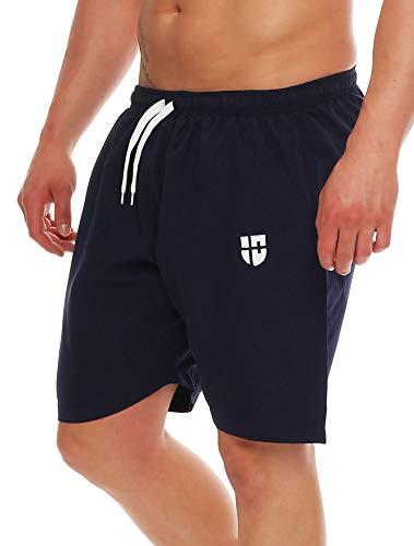 Gennadi Hoppe Herren Badeshorts Badehose Beach Shorts Schwimmshort,blau, X-Large