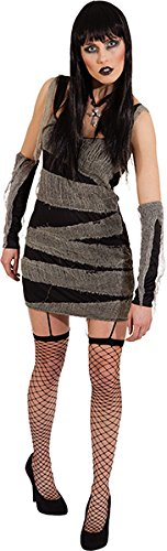Orlob Mumie Damen Kostüm Kleid Armstulpen zum Zombie an Halloween Gr.38/40