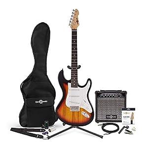 Set Completo de Guitarra Electrica LA + Amplificador de 15 W Red: Amazon.es: Instrumentos musicales