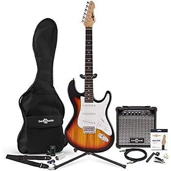 Set Completo de Guitarra Electrica LA + Amplificador de 15 W Sunburst: Amazon.es: Instrumentos musicales