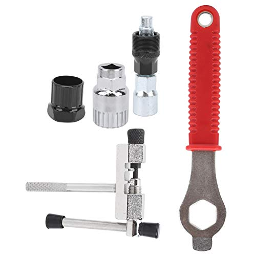 Hoseten Durable Bike Repair Kit, Bicycle Bracket Remover, Bike Crank Extractor, Stable for Bike Easy to Operate Bicycle Maintenance Shop Portable