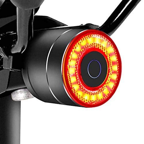 Team99 bicicleta inteligente sensor de freno luz trasera LED USB recargable Ciclismo Sillín Tija trasera aleación impermeable bicicleta advertencia