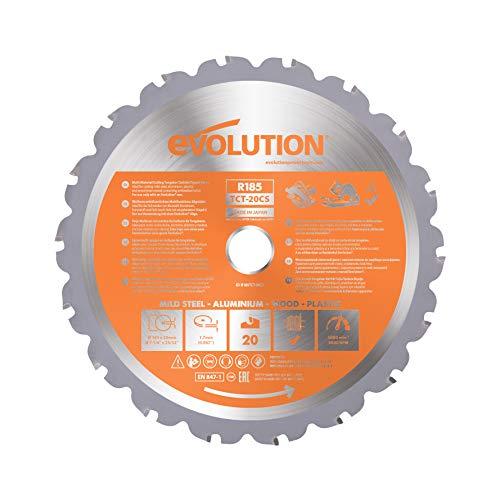 Evolution Power Tools 677185 Hoja DE Sierra, 0 W, 0 V, Multicolor, 185 mm