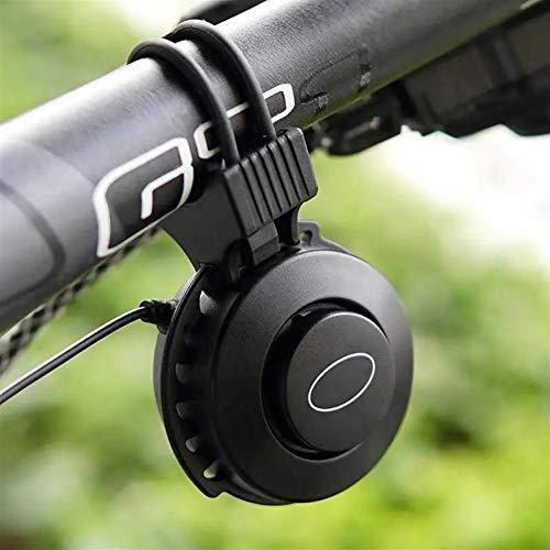 WanuigH Fahrrad Glocke 100dB Einstellbare 4 Modi Low Noise Bike Alarm Fahrradzubehör Upgraded Radsport Zubehör (Farbe : Black, Size : One Size)