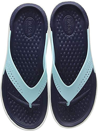 Crocs Literide Flip, Chanclas Unisex Adulto, Azul (Ice Blue/Almost White 4kp), 38/39 EU