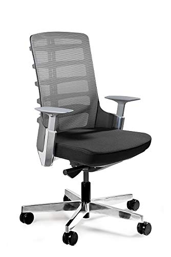 UNIQUE DESIGN FOR PEOPLE - SPINELLY M - Silla ergonomica de Oficina giratoria Silla para Escritorio construcción Negra/Honey BL
