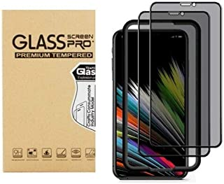 ALOK 3 Pack Screen Protector Privacy for iPhone 12 Mini iPhone 12 iPhone 12 Pro iPhone Pro Max Tempered Glass Screen Prote...