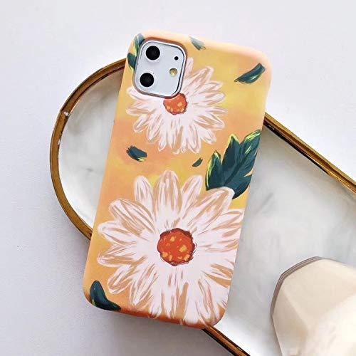 ZJDY Caja Colorida Flor Floral Hoja de teléfono for IP Plus 8 6 7 6S X XR Caso XS MAX for IP 11 11Pro MAX Suave de la contraportada (Color : Style 6, Material : For iPhone 6Plus 6SP)