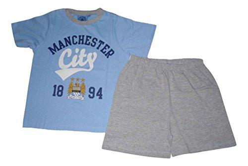 Pijama oficial Manchester City corto 7-16 años Azul