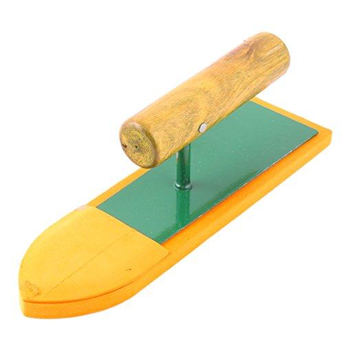 sourcingmap Poignée mousse ménage bois mur lisse Nettoyage de cloison sèche d'outils à main Ponceuse orange