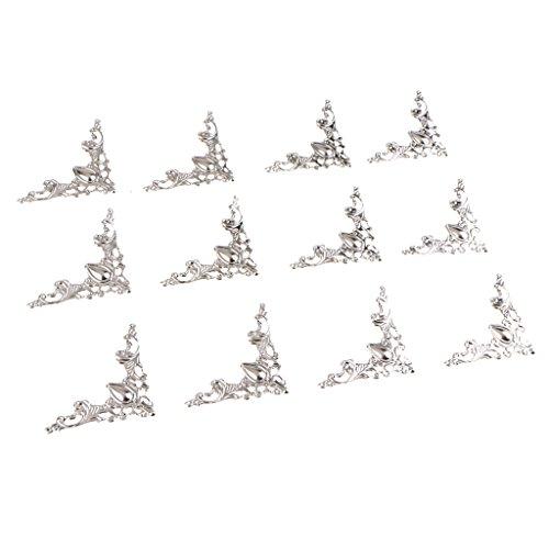 Sharplace 12Pcs Supports D'étagère Support d'angle Brace Joint à Angle Droit - Blanc