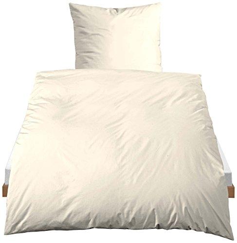 Castell 0040500 Linon Bettwäsche Garnitur mit Kopfkissenbezug (Baumwolle) 1x 135x200 cm + 1x 80x80 cm, kakao