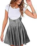 YOINS Falda Plisada de Mujer Falda Mini Skater Acampanada Vestido de Faldas de Tirantes Casuales de Moda Elástica...