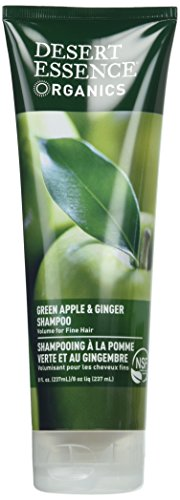 Desert Essence Green Apple & Ginger Shampoo - 8 Fl Ounce - Pack of 2 - Adds Volume, Strength & Shine - Moisturizer & Revitalizing - Coconut Oil - - Apple & Ginger Root Extract