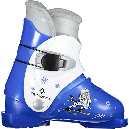 TECNOPRO Kinder Skitty Skistiefel, blau/Weiß, 19.5