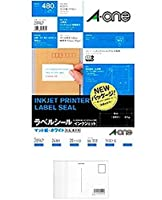 エーワン ラベルシール(インクジェット) マット紙(A4判) 20枚入 28947 2セット + 画材屋ドットコム ポストカードA