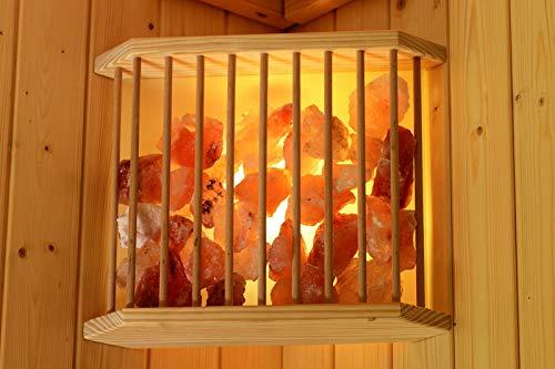Karibu Sauna Salzkristalleuchte