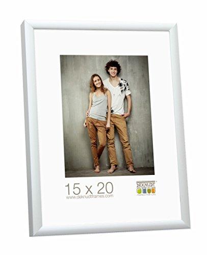 Deknudt Frames S024D1-60.0X90.0 Bilderrahmen, Aluminium, matt, 91,5 x 61,5 x 2,4 cm, silberfarben
