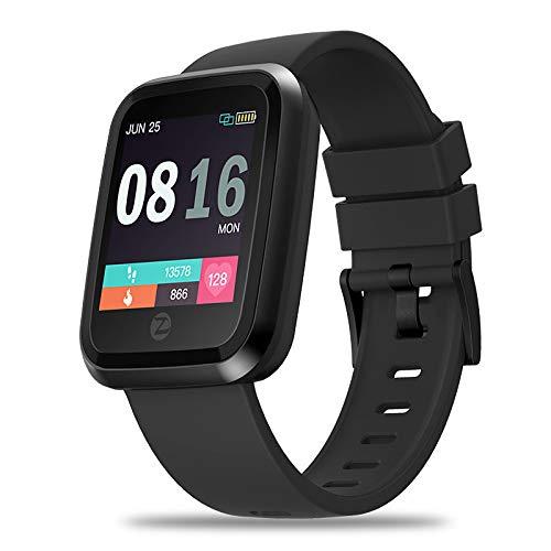 Zeblaze Crystal 2 Unisex Smartwatch Bluetooth Wasserdichter Touchscreen GPS Herzfrequenzmesser Video EKG + PPG Timer Schrittzähler Activity Tracker Sitzende Erinnerung