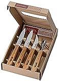 Opinel Küchenmesser-Set, 4-teilig, Geschenkebox Messer, Rostfreies Metall, Mehrfarbig