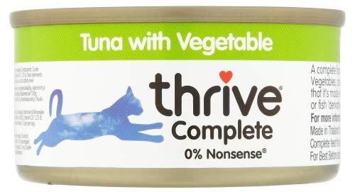 thrive Katze Complete - 100% Katzenvollnahrung Tunfisch & Gemüse (12-er Pack)