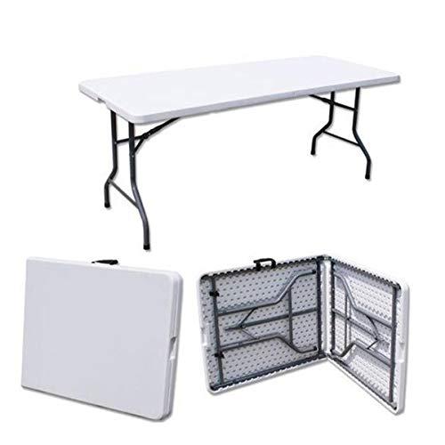 YHWD Mesa Plegable portátil,Mesa de Camping Plegable,Tubo de Acero Marco,HDPE Escritorio,para Interiores y Exteriores...