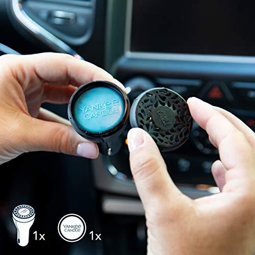 YANKEE CANDLE 1627741E Kit diffusore di fragranze alimentati per Auto, Ciliegia Nera