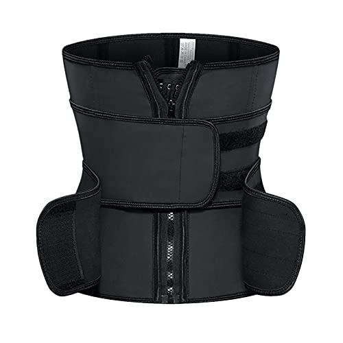 QOXEFPJZ fajas reductoras adelgazantes Cinturón de refuerzo de doble correa 25 huesos 33 Shapewear de deporte alto, Shapewear Cintura de plástico (Color : A, Size : S)