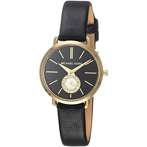 Michael Kors Damen Analog Quarz Uhr mit Leder Armband MK2750