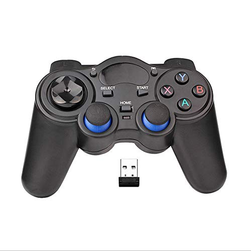 USB Wireless Gaming Controller Gamepad for PC/Laptop Computer(Windows XP/7/8/10) & PS3 & Android & Steam (Black)