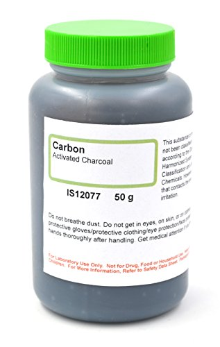 Carbon-Activated Charcoal, 50g - The Curated Chemical Collection