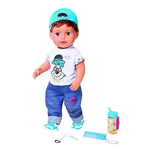 Baby Born Zapf Creation 826911 - Muñeco Suave Soft Touch Brother con Funciones y Accesorios, 43 cm