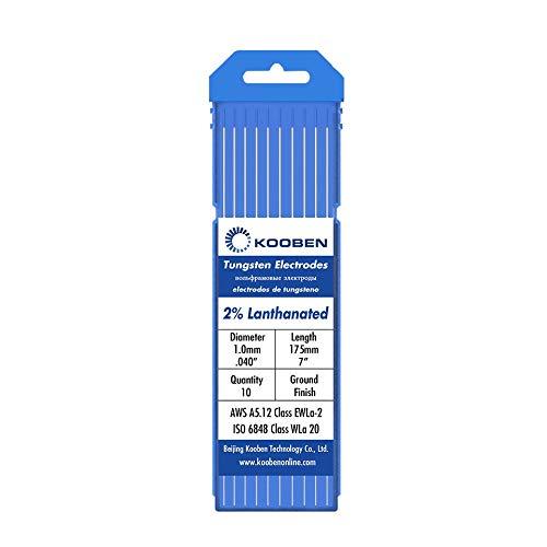 Jdon-hats FJY-Spring Electrodos de tungsteno WL20 1.0 1.6 2.4 3.2mm x 175mm de Soldadura Azul de Soldadura de TIG electrodos de tungsteno (tamaño : 3.2mm)
