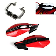 "&#9733[FITMENT] - Fit All Handlebars Range 7/8"" 22mm to 1 1/8"" 28mm &#9733[QUANTITY] - A Set Of Hand Guards And Fitting Kit.Installation Instruction NOT Included &#9733[FUNCTION] - Reinforced to protect your motorcycle in the event of a crash and Pro..."