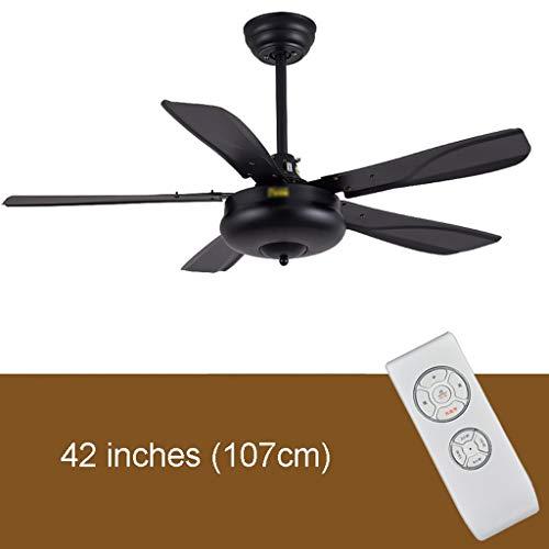 Ménage simplicité 42/56 inch windventilator voor het plafond, zwart, business, eenvoudig, elegant, woonkamer, eetkamer, zonder lamp, elektrische ventilator, voor het huishouden, sterk, stil, motor 56 pouces Afstandsbediening