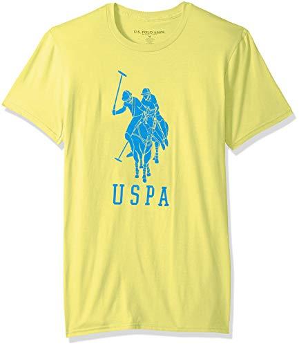 U.S. Polo Assn. Men's Short Sleeve Crew Neck Fashion T-Shirt, Bayview Yellow, L