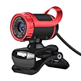 POHOVE Webcam USB con micrófono Full HD 1080P Webcam para PC, ordenador portátil, Plug and Play, cámara web giratoria para transmisión en vivo, videollamadas, estudio, conferencias, juegos