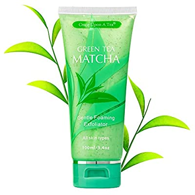 Green Tea Matcha Gentle Foaming Exfoliator, Best Exfoliating Face Wash For Men & Women, Deep Cleansing & Reduces Clogged Pores, Facial Skin Care Cleanser, Microdermabrasion Effect by Shenzhen Ariel Medical Technology Co Ltd