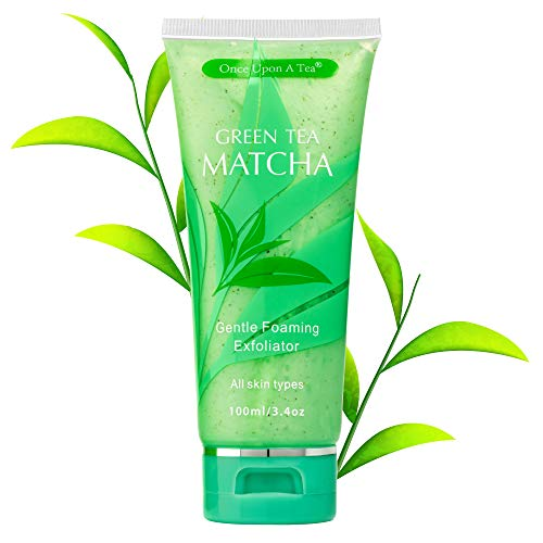 Green Tea Matcha Gentle Foaming Exfoliator, Best Exfoliating Face Wash For Men & Women, Deep Cleansing & Reduces Clogged Pores, Facial Skin Care Cleanser, Microdermabrasion Effect