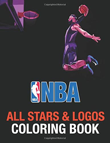 NBA All Stars Coloring Book: NBA World with Logos and All-stars