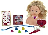 Theo Klein 5236 - Princess Coralie Schmink- und Frisierkopf mit Kosmetik-CD, mittel, Spielzeug