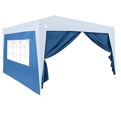 Deuba 2X Seitenwände Passend Bei 3x3m Oder 3x6m Pavillons Wasserabweisend Faltpavillon Gartenzelt Partyzelt Blau