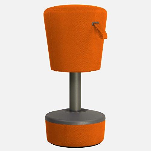 profim Sitzhocker Mickey Büro Sitz-Stand-Hocker Mickey Ø 360 mm Bürohocker Bürostuhl Sitzhöhe: 570-900 mm, Fußkreuz:Grau, Farbe:NX-3