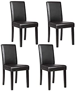 Mecor Upholstered Dining Chairs Set of 4, Kitchen PU...
