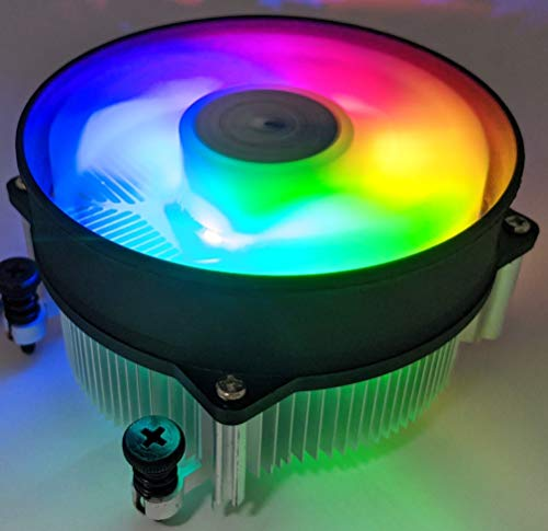 HIGH POWER RadiantAM4 RGB Changing-Color LED Light CPU Cooler with Aluminum Heatsink & 92mm PWM Cooling Fan for AMD Ryzen 5,7,9 Processor/Socket AM4