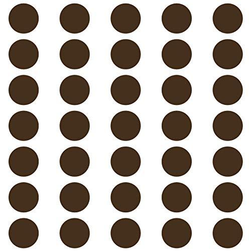 kleb-Drauf® | 35 Punkte | Braun - glänzend | Autoaufkleber Autosticker Decal Aufkleber Sticker | Auto Car Motorrad Fahrrad Roller Bike | Deko Tuning Stickerbomb Styling Wrapping