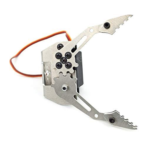smallJUN Roboter-Greifer, Manipulator-Pfote Roboter-Greifer-Metallklaue-mechanischer Armklemmsatz mit Servo Mg996R,