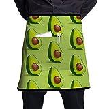 Delantal vegano de aguacate con cinturón ajustable, delantal de bolsillo grande, adecuado para hombres y mujeres de diferentes formas de cuerpo